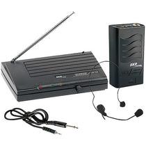 Microfone Sem Fio Headset Vhf855 Alcance 50m Skp