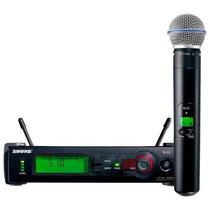 Microfone Sem Fio - Shure Slx 4 Beta58