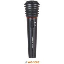 Microfone Sem Fio Com Transmissor. Preto.importado. Wg-308e.