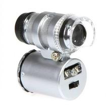 Microscópio Super Mini 60x- 2 Led-detecção Dinheiro Falso