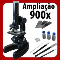 Microscópio Vivitar Com Ampliação Até 900x Acessórios + Nfe