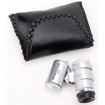 Mini Microscópio Portátil De Bolso 45x Led O Menor De Todos