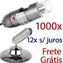 Microscópio Digital Usb 20x À 1000x Hd Envio Já Frete Grátis