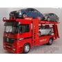 Miniatura De Caminhão Cegonha Mercedes Welly Coleção 1,32