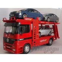 Miniatura De Caminhão Cegonha Mercedes Welly Coleção 1/32