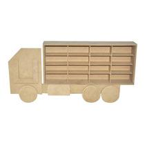 Estante Para Miniaturas Hot Wheels 16 Lug. Formato Caminhão