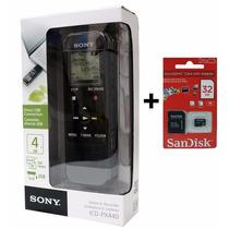 Gravador Voz Digital Sony Icd Px440 4gb + Memória 32gb