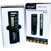 Mini Gravador De Voz Digital Espião 8gb Grava Até 540 Horas