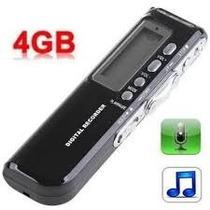 Gravador De Voz Digital Espião 4gb Escuta Telefônica Mp3 !!!