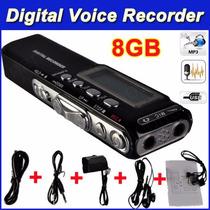 Gravador De Voz Digital Espião Grava Até 12 Dias Direto 8gb