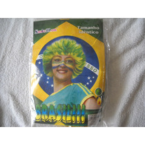 Peruca Mesclada Copa Do Mundo Simbora Brasil Linda!!!