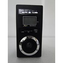 Caixa De Som Portátil Eq-21 Mp3 Entrada Usb Pen Drive Rádio