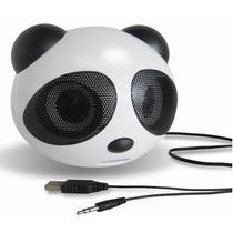 Mini Caixa De Som Panda Portátil Mp3 Usb Pen Drive Radio Fm