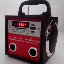 Caixa De Som Portátil Amplificada Usb Mp3 Radio Fm Sd