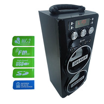 Caixa De Som Portátil Amplificada Usb Mp3 Radio Fm Sd Recarr