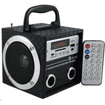 Caixa De Som Portátil Mp3 Entrada Usb Pen Drive E Radio
