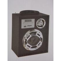 Caixa De Som Portátil Stéreo Mp3 Sd/usb/p2/fm/controle Remot