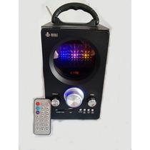 Caixa De Som Amplificada Portatil Radio Fm /usb/ Sd 20 Watts