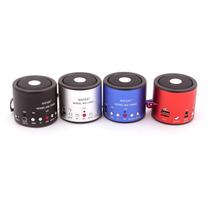 Mini Caixa De Som Mp3 Gravador Fm Pendrive Usb Ws138-rc