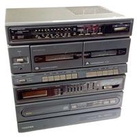 Mini System Toshiba Sl-13 Cd Rádio Toca Fita Duplo Deck