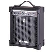 Caixa De Som Amplificada Microfone Karaoke Subwoofer Usb/ Fm