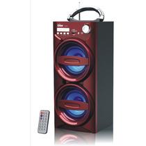 Caixa De Som Portátil Digital Usb Fm Sd Aux Bateria Potente