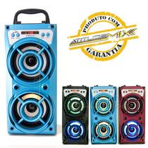 Caixa De Som Amplificada Portátil Bluetooth Mp3 Mp4 Pc Tf