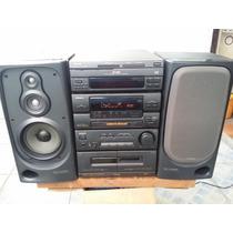 Micro System Aiwa Nsx- 350m - 95w - Carrossel C/ 03 Cds