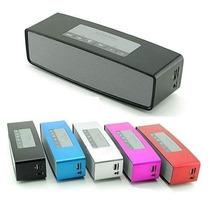 Caixa Som Bluetooth Multifunção Usb Fm Micro Sd Varias Cores