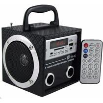Caixa Som Caixinha Portátil Usb Mp3 Radio Fm Sd Pen Drive