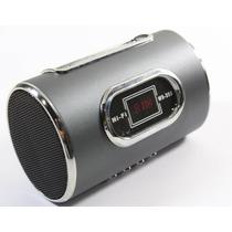 Caixa De Som Digital Radio Fm Pen Drive Usb Sd Recarregável