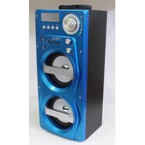 Caixa De Som Bluetooth Microfone Amplificada Usb Sd Fm Mic