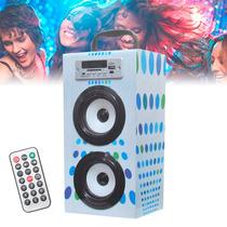 Caixa De Som Mix Style Mp3 Portátil Estéreo Usb Cartão Fm E9