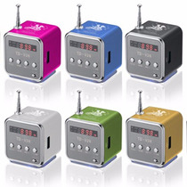 Caixa De Som Mp3 Portátil Usb Toca Mp3 Pendrive Micro Sd Fm