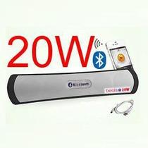 Caixa Som 20w Rms Portatil Bluetooth Iphone Ipad Sd Usb Fm