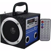 Caixa Som Caixinha Portátil Usb Pen Drive Mp3 Radio Fm Sd