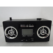 Caixa De Som Portátil Eq-23 Mp3 Entrada Usb Pen Drive Rádio
