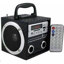 Caixa Som Portátil Mp3 Musica Usb Pen Drive Rádio Sd Memoria