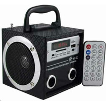 Mini Caixa Caixinha Som Portátil Usb Mp3 Rádio Fm Yy03 Otima