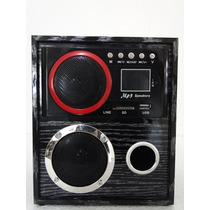 Caixa De Som Portátil Ru-24 Mp3 Entrada Usb Pen Drive Rádio