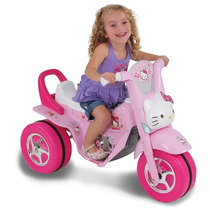 Moto Elétrica Infantil Triciclo Mini Fox Hello Kitty Carro