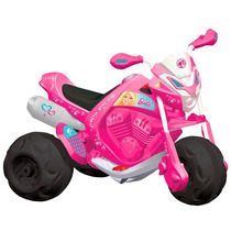 Mini Moto Eletrica 6v Trail Barbie Rosa - Bandeirante