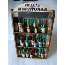 Antiga Estante Com Miniaturas De Bebidas Brahma Antarctica