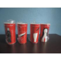 Coleção De Copos Dos 100 Anos Da Garrafa Da Coca Cola...