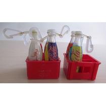 A9953 Garrafinhas Coca Cola Olimpíadas 2004 Com Engradados.