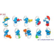 Kinder Ovo - Coleção Completa - Smurfs Musica E Jardim