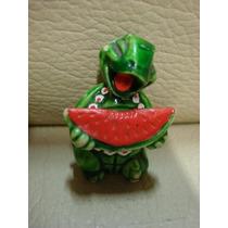 Brinquedo Kinder Ovo Coleção Tartaruga Verde Melancia
