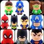 Kit 6 Chaveiros Super Herois, Batman, Homem Aranha E Outros