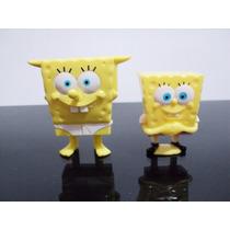 Lote 2 Bonecos Bob Esponja - Nestlé (tenho Mc Donalds)