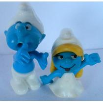 #134# Miniaturas Bonecos Série Os Smurfs Mc Donalds